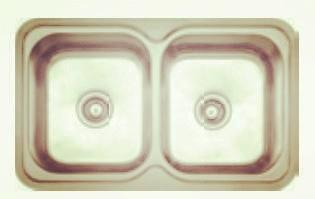 Topmount double bowl-KBTD8250
