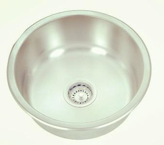 Topmount single round bowl-KBTS510