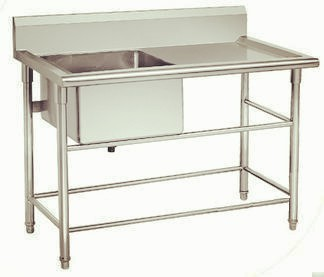 Restaurant kitchen stainless steel table sinkstainless steel table sink all stainless steel kitchen table sink kbtbd9065 watchthetrailerfo