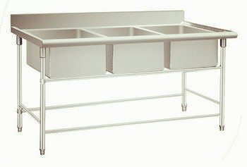 All Stainless Steel Kitchen Table sink-KBTTB16060