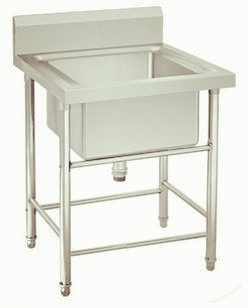All stainless steel kitchen table sink-KBTSS6060